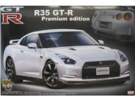 Aoshima - 1:24 SKYLINE R35 GT-R PREMIUM EDITION WHITE Plastic Kit - AOS-41956