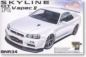 Aoshima - 1:24 SKYLINE R34 GT-R V-Spec II Plastic Kit - AOS-35849