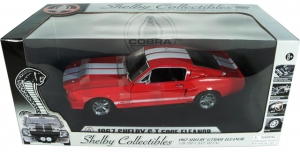Shelby Collectibles - 1:18 '67 SHELBY GT500 ELEANOR RED/WHITE - DC-500E03-RED