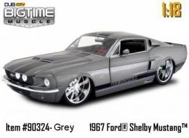 Jada Toys - 1:18 BTM 1967 MUSTANG SHELBY GT500 KR ELEANOR - JA-90324 M GRAY