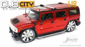 Jada Toys - 1:18 DUB CITY-HAMMER H2 - JA-63362 C. RED