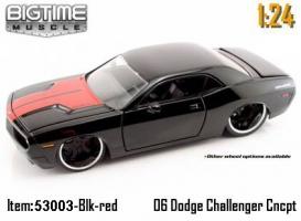 Jada Toys - 1:24 BTM-'06 DODGE CHALLENGER - JA-53003 BLACK