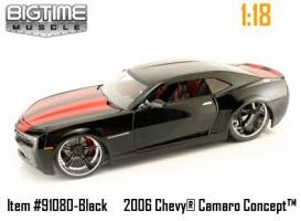 Jada Toys - 1:18 BTM '06 CHEVY CAMARO CONCEPT - JA-91080 BLACK/RED