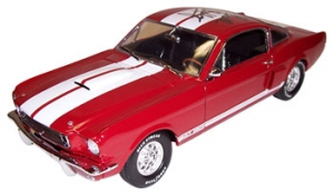Shelby Collectibles - 1:18 '66 Shelby GT-350 Street Red/White - DC-35003