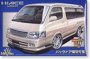 Aoshima - 1:24 TOYOTA HIACE '99 VIP WHEEL TYPE plastic kit - AOS-28186