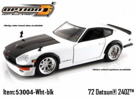 Jada Toys - 1:24 OPTION D '72 DATSUN 240Z - JA-53004 WHITE