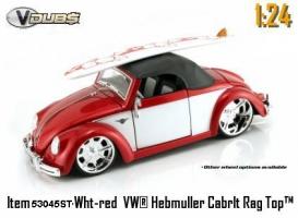 Jada Toys - 1:24 V-DUB '49 VW-HEBMULLER SOFT TOP - JA-53045ST RED/WHITE