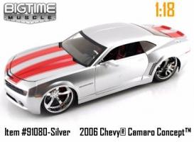 Jada Toys - 1:18 BTM 2006 CHEVY CAMAROO CONCEPT - JA-91080C SILVER
