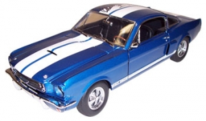 Shelby Collectibles - 1:18 '66 Shelby GT-350 Street Blue/White - DC-35002