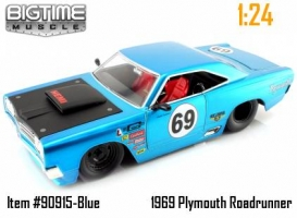 Jada Toys - 1:24 BTM '69 PLYMOUTH ROAD RUNNER BLUE - JA-90915