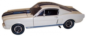 Shelby Collectibles - 1:18 '66 Shelby GT-350R Race White/Blue - DC-350R1