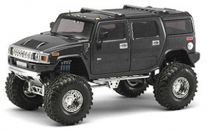 So Real - 1:24 HUMMER H2 -GUNMETAL GRAY - SR-10001-04