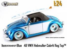 Jada Toys - 1:24 V-DUB '49 VW-HEBMULLER SOFT TOP - JA-53045ST BLUE SKY/WHITE