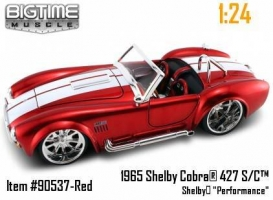 Jada Toys - 1:24 BTM-'65 SHELBY COBRA - JA-90538-RED