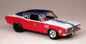Super Car Collectibles - 1:18 SOX & MARTIN 340 CUDA  RACE CAR - SSC-50574