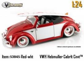 Jada Toys - 1:24 V-DUB '49 VW-HEBMULLER CONVERTIBLE - JA-53045 RED/WHITE