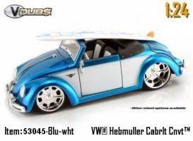 Jada Toys - 1:24 V-DUB '49 VW-HEBMULLER CONVERTIBLE - JA-53045 BLUE SKY/WHITE