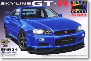 Aoshima - 1:24 SKYLINE R34 GT-R (BAYSIDE BLUE) Plastic Kit - AOS-40027 PRE PAINTED