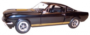 Shelby Collectibles - 1:18 '66 Shelby GT-350 Street Black/Gold(Hertz) - DC-35004