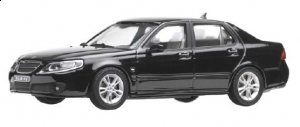 Motorart - 1:43 Saab 9-5 Sedan '06 Black - MO-S1048