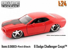 Jada Toys - 1:24 BTM '06 DODGE CHALLENGER - JA-53003 RED CANDY