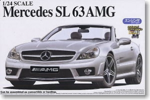 Aoshima - 1:24 THE BEST CAR MERCEDES BENZ SL 63 AMG CABRIOLET Plastic Kit - AOS-047859