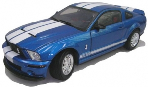 Shelby Collectibles - 1:18 2007 Shelby GT500 Blue/Wht - DC-075003
