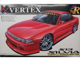 Aoshima - 1:24  NISSAN SILVIA S13 VERTEX Plastic Kit - AOS-39779