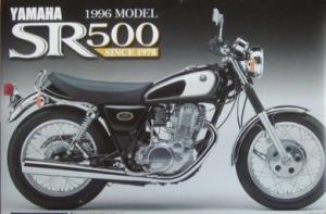 Aoshima MOTO - 1:12 '96 YAMAHA SR500 MODEL plastic kit - AOS-30356
