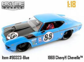 Jada Toys - 1:18 BTM 69 CHEVELLE RACING PETTY'S BLUE KIT - JA-90323 BLUE