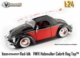 Jada Toys - 1:24 V-DUB '49 VW-HEBMULLER SOFT TOP - JA-53045ST BLACK/RED