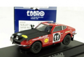 EBBRO - 1:43 NISSAN FAIRLADY 240Z EAST AFRICAN SAFARI RALLY - EB-43103